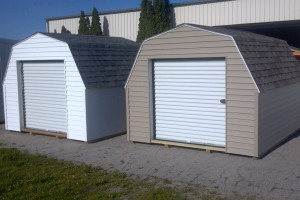 Two 43-inch wall sheds