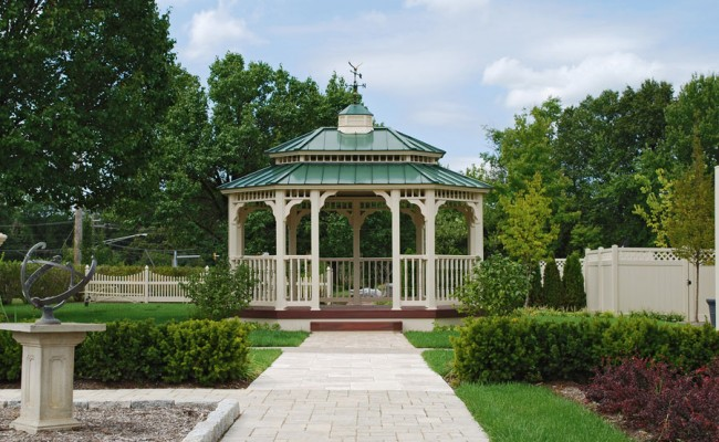 Gazebo-Vinyl-Oval-12×16-green-metal